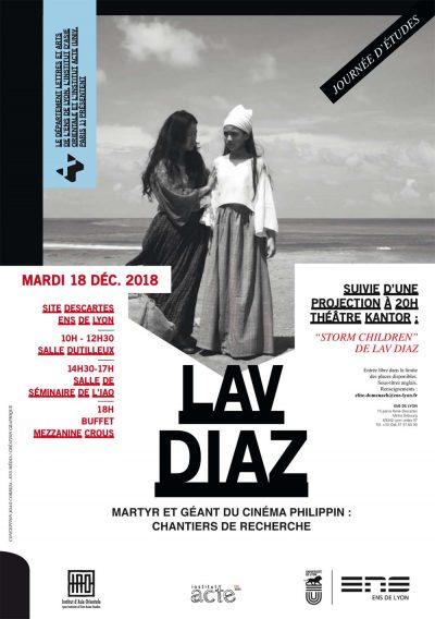Journée d'études : Lav Diaz, martyr et géant du cinéma philippin : chantiers de recherche