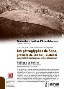 """Les pétroglyphes de Sapa, province de Lào Cai, Vietnam. Comment déchiffrer la figuration d'un espace agraire en milieu montagnard""""  Philippe Le Failler"""
