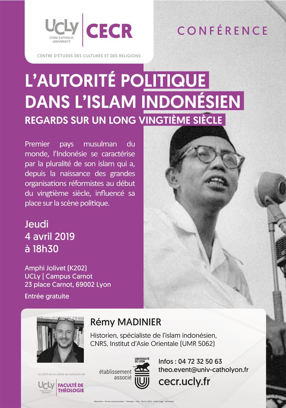 Conférence : Rémy Madinier