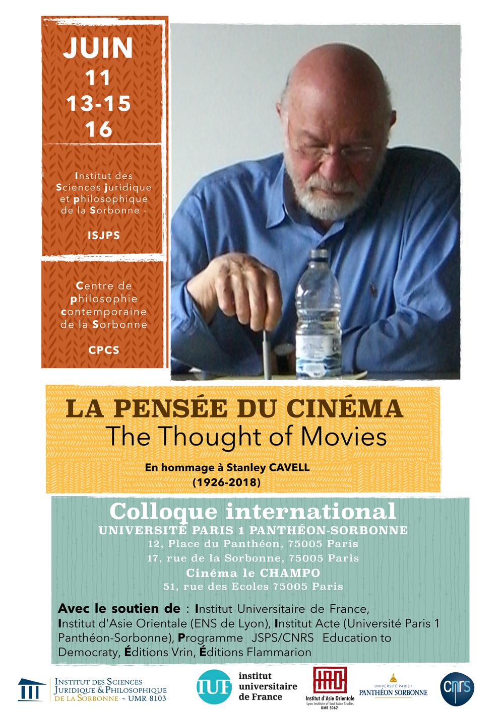 Colloque International : La pensée du cinéma, en hommage à Stanley cavell (1926-2018)