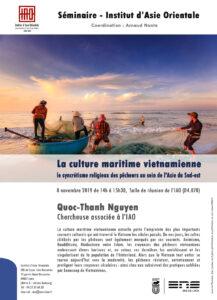 Quoc-Thanh Nguyen - La culture maritime vietnamienne, le syncrétisme religieux des pêcheurs au sein de l'Asie du Sud-est