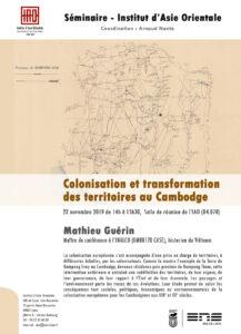 Mathieu Guérin - Colonisation et transformation des territoires au Cambodge