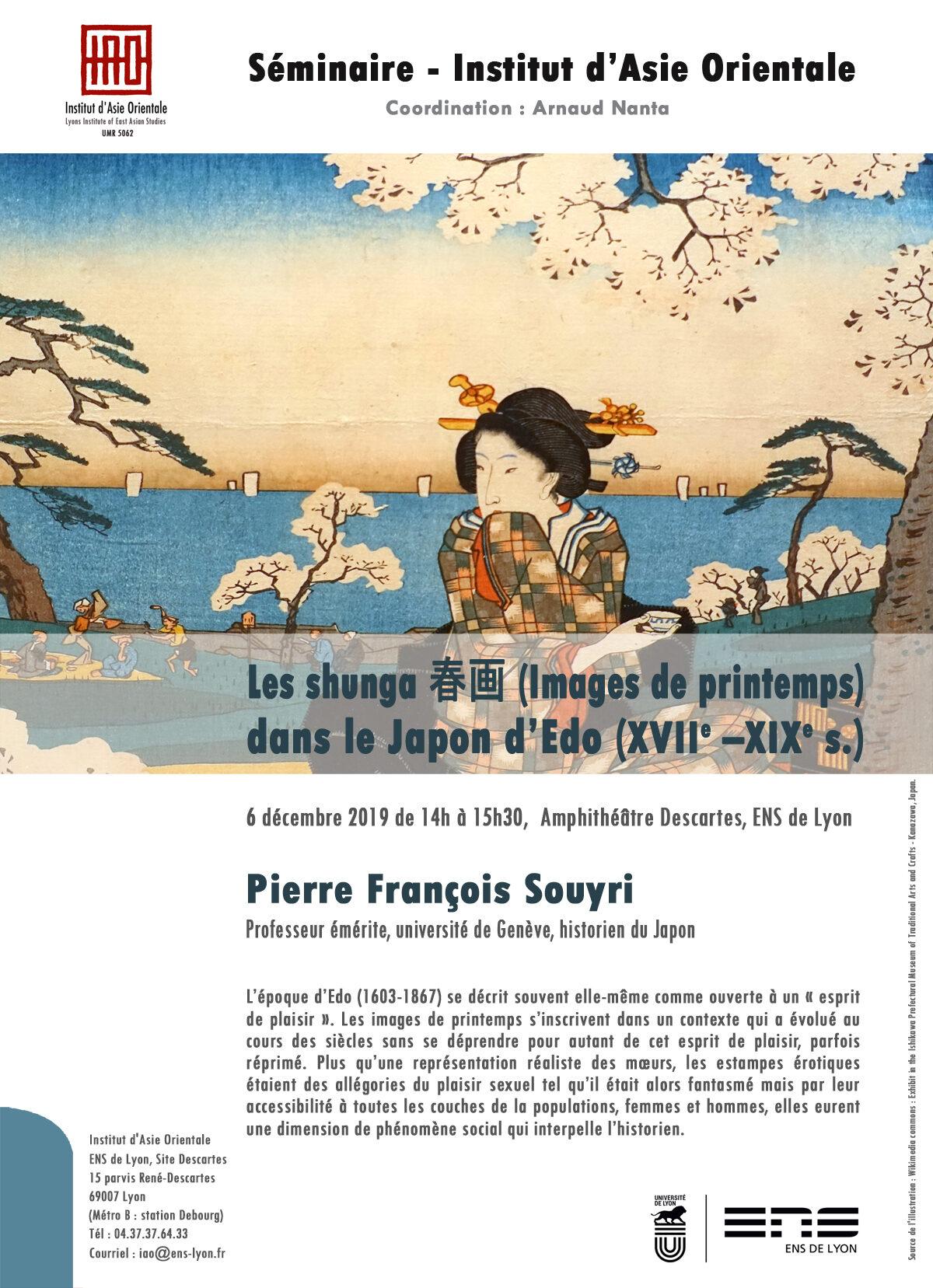 Séminaire de l'IAO : Pierre François Souyri