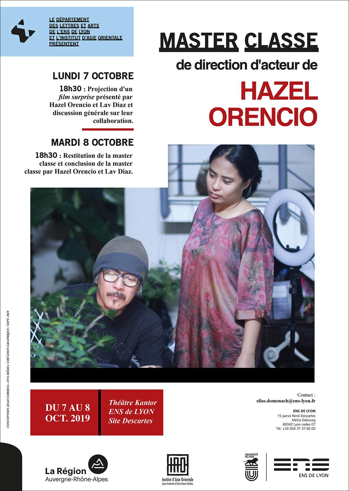 Master classe de direction d'acteur H. ORENCIO