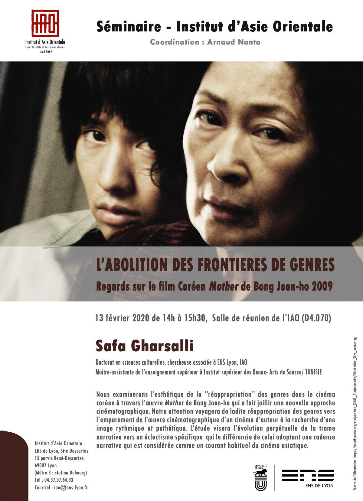 Séminaire de l'IAO : Safa Gharsalli