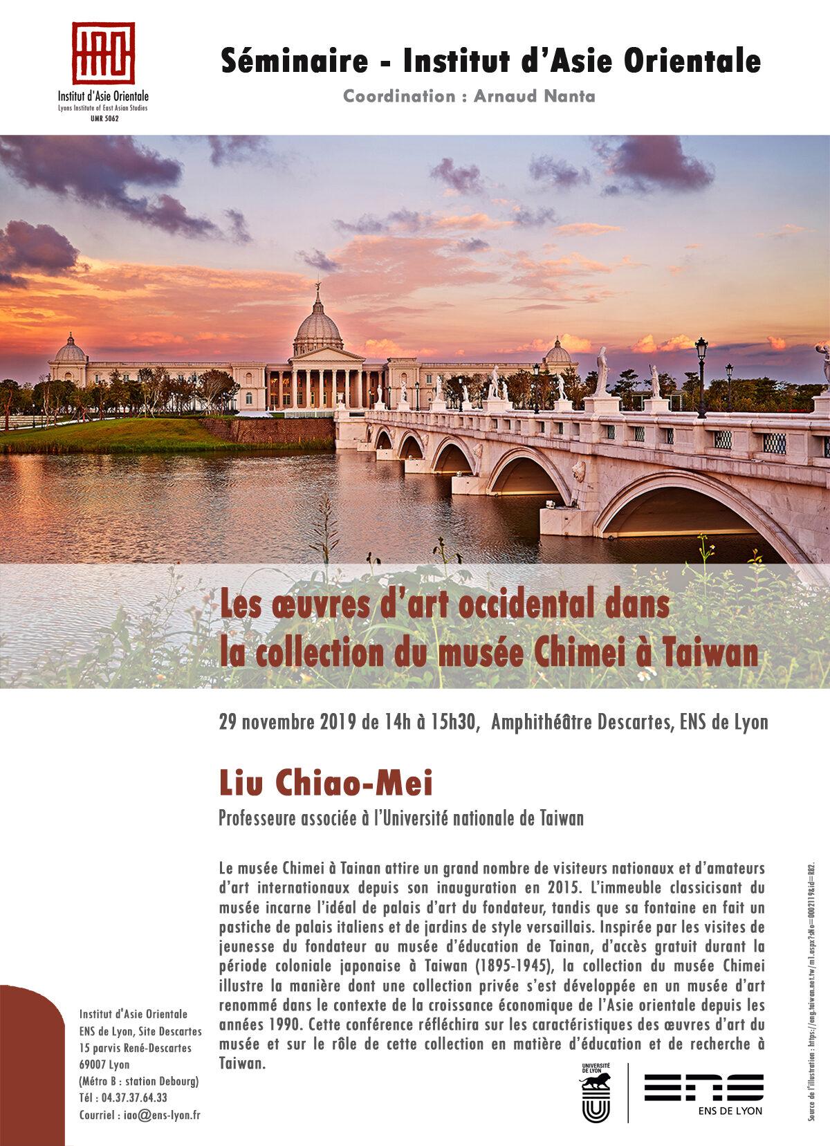 Séminaire de l'IAO. Les œuvres d'art occidental dans la collection du musée Chimei à Taiwan