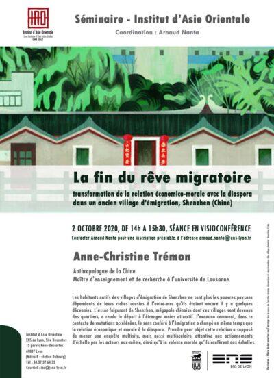 Séminaire d'Anne-Christine Trémon
