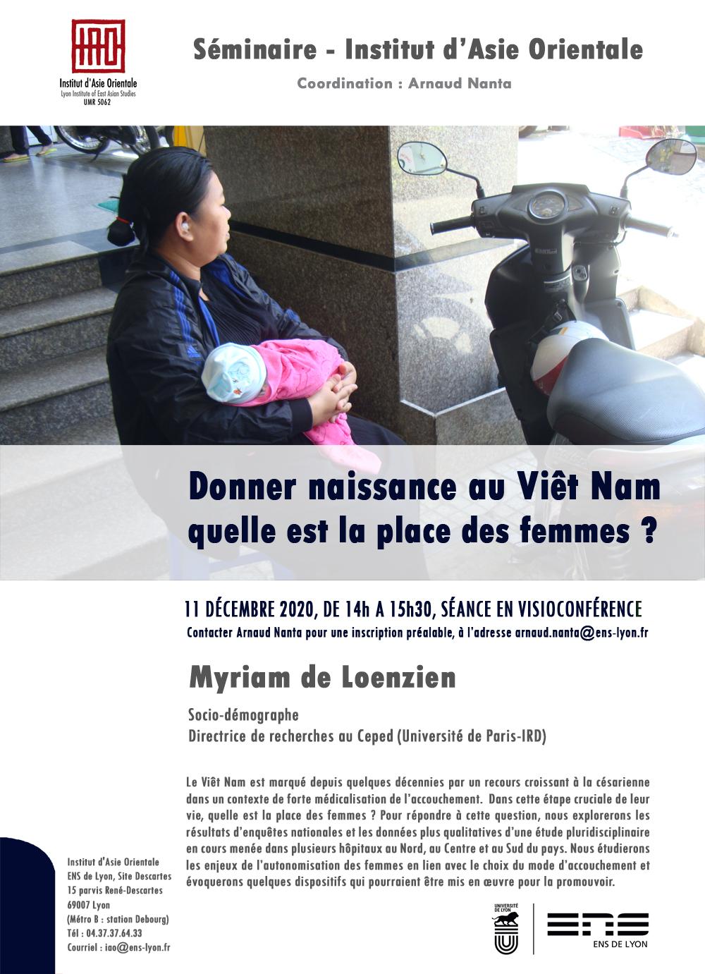 Séminaire de l'IAO. « Donner naissance au Viêt Nam : quelle est la place des femmes ? »