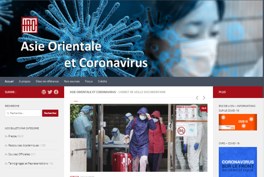 Carnet de recherche Asie Orientale et Coronavirus