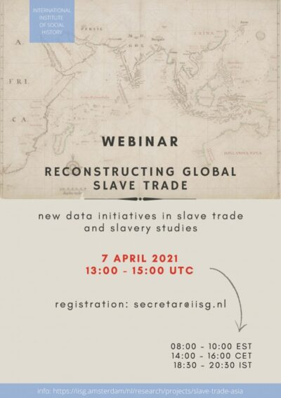 Webinar Reconstructing global slave trade: new data initiatives in slave trade and slavery studies