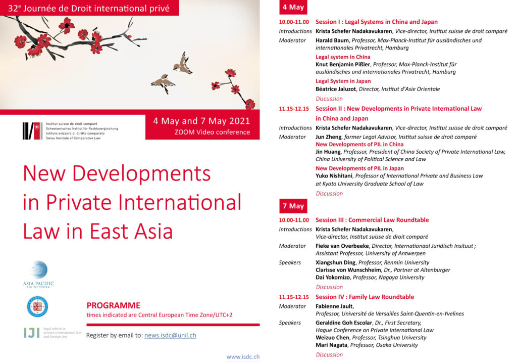 new developments in Private International Law in East Asia