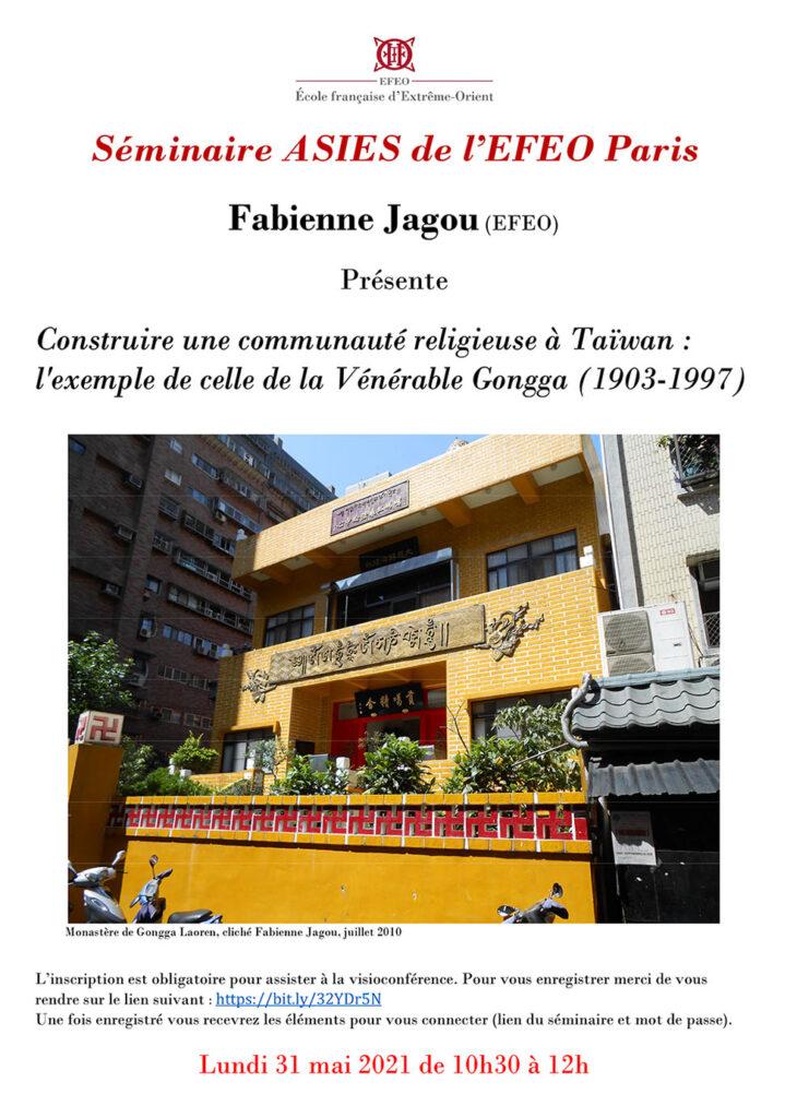 Construire une communauté religieuse à Taïwan : l'exemple de celle de la Vénérable Gongga (1903-1997)
