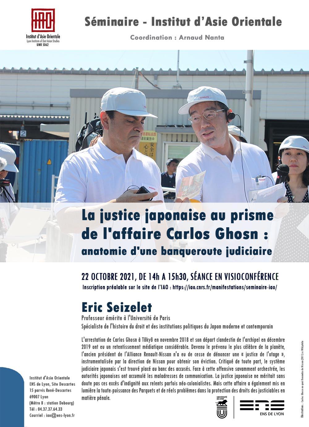 La justice japonaise au prisme de l'affaire Carlos Ghosn : anatomie d'une banqueroute judiciaire, Eric Seizelet