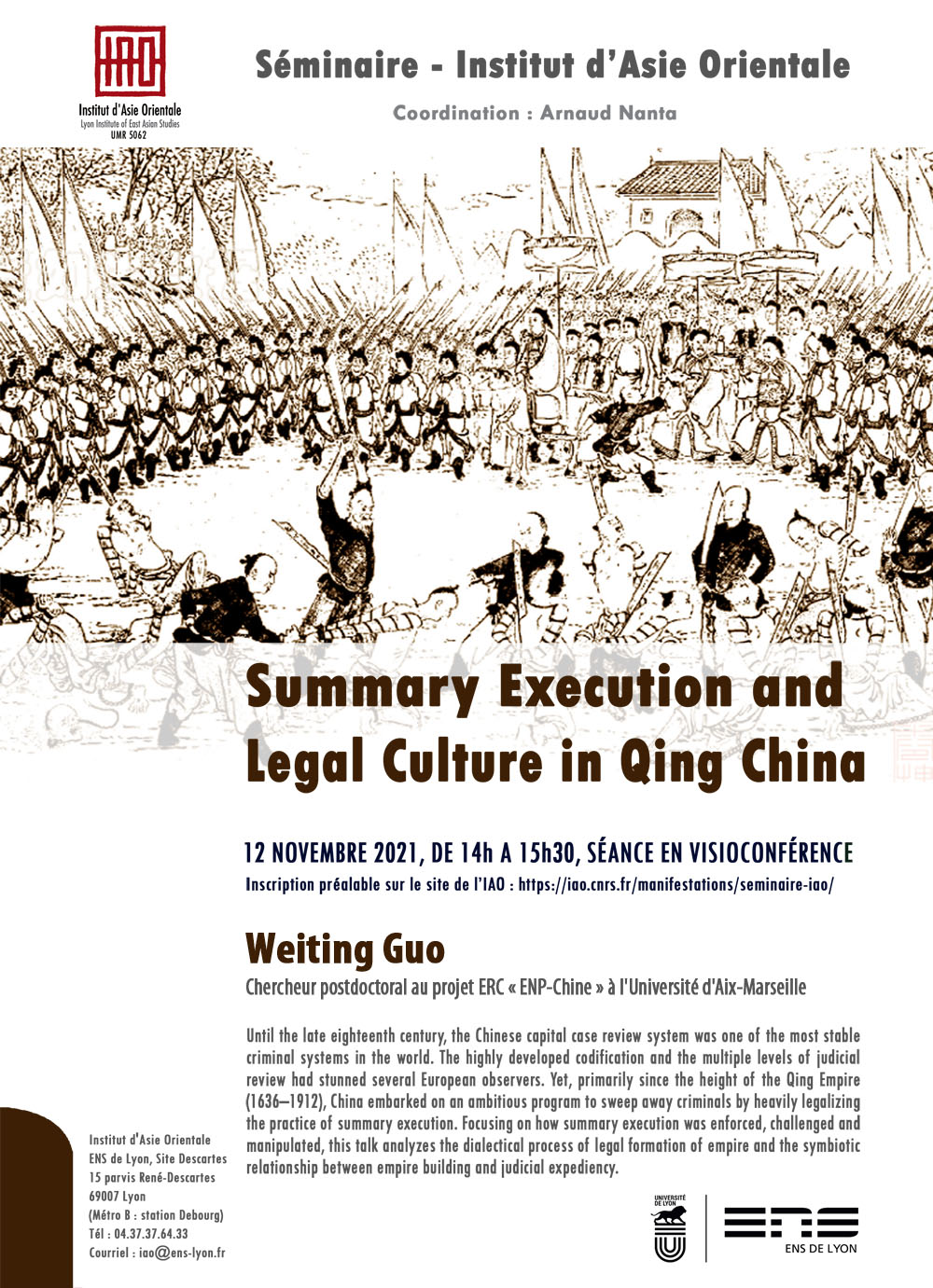 Summary Execution and Legal Culture in Qing China, Weiting Guo